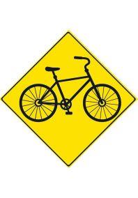 Металлический указатель  Велосипедная зона