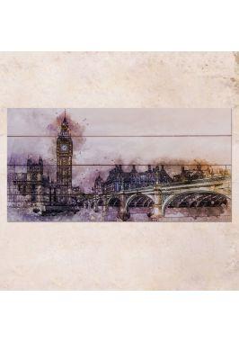 Панно на дереве Westminster Bridge