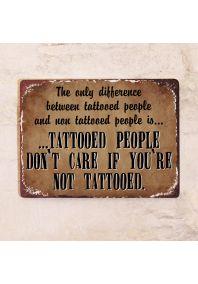 Отличие татуированных людей