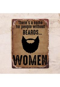 No beard = women