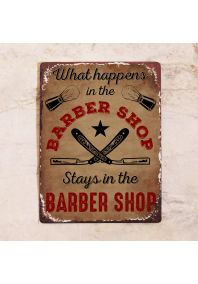 What happens in the barber shop...