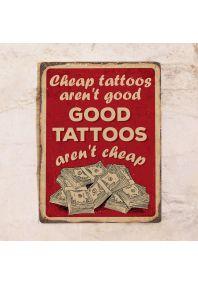 Винтажный тату-постер