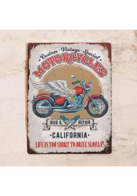 Табличка Motocycles California