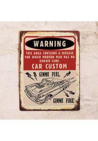 Табличка Car Custom
