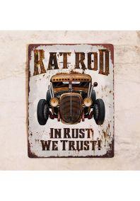 Табличка In rust we trust!