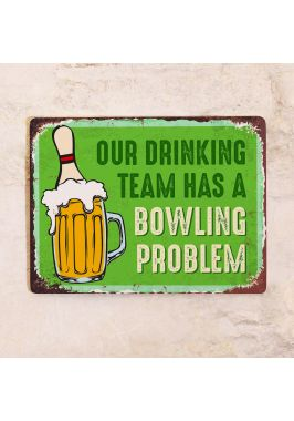 Табличка Bowling team. Купить