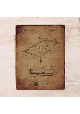 Табличка Патент бильярдного стола. Купить