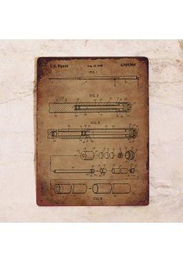Табличка Патент бильярдного кия. Купить
