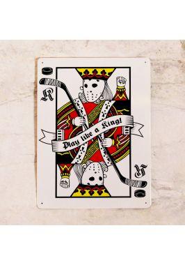 Табличка Play like a king. Купить