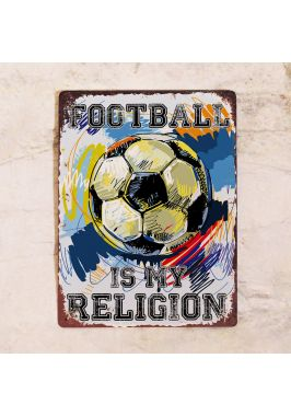 Табличка Football religion. Купить