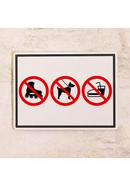 Запрещающая табличка