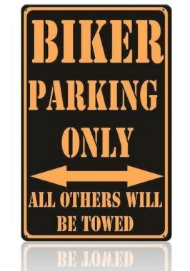 Жестяная табличка Biker Parking
