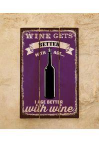 Деревянная табличка Wine