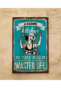 Деревянная табличка Wasted life