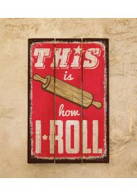 Деревянная табличка Roll