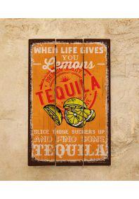 Деревянная табличка Tequila