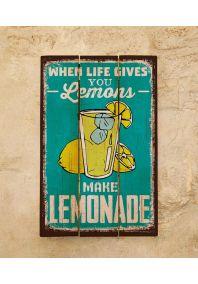 Деревянная табличка Lemonade