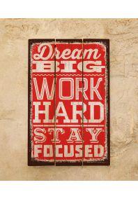 Деревянная табличка Dream big
