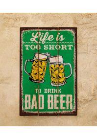 Деревянная табличка Beer
