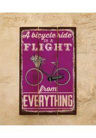Деревянная табличка Bicycle flight
