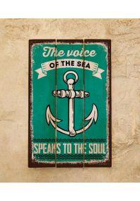 Деревянная табличка Voice of the sea