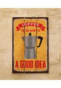 Деревянная табличка Coffee