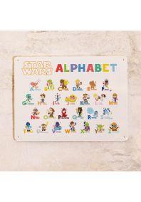 """Табличка Алфавит """"Звездные войны"""""""