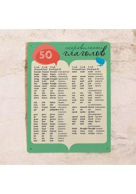 Табличка 50 неправильных глаголов