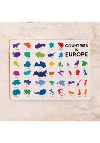 Табличка Countries in EUROPE