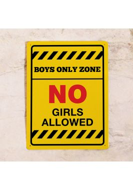 Табличка на дверь Boys Only Zone