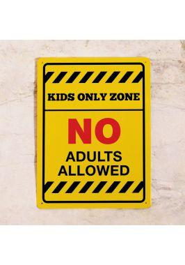 Табличка на дверь Kids Only Zone