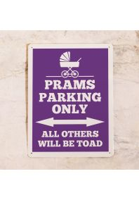 Табличка Prams parking only (Violet)