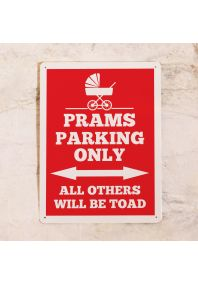 Табличка Prams parking only (Red)