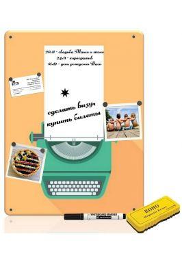 Магнитно-маркерная доска Печатная машинка