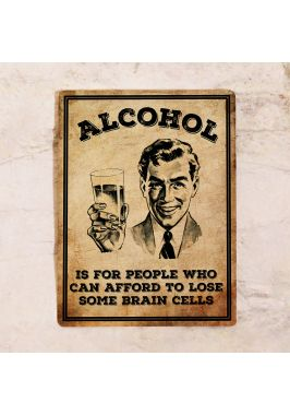 Табличка для бара Alcohol