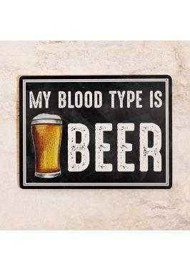 Жестяная табличка Blood type