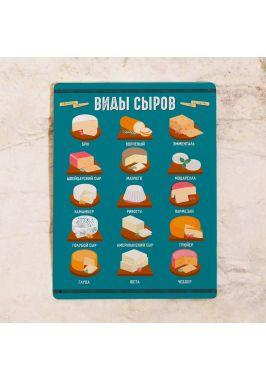 Табличка Виды сыров