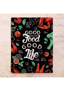 Жестяная табличка Good food
