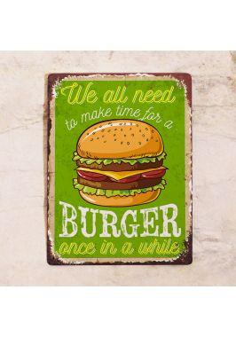 Табличка Burger time