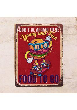 Табличка Food to go