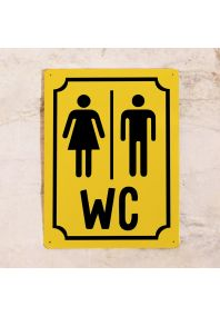 М+Ж WC (Желтый)