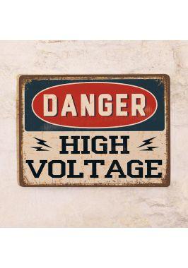 Табличка High Voltage