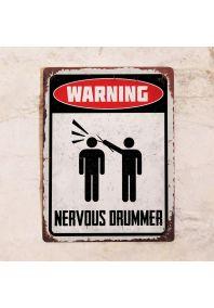 Nervous drummer