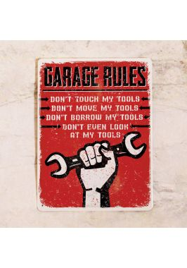 Табличка Правила гаража