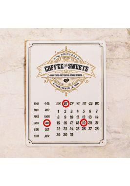 Металлический календарь Coffee&Sweets