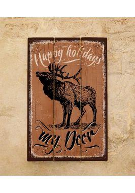 Деревянная табличка My deer