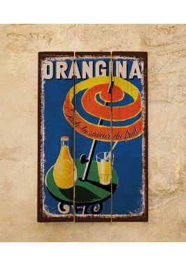Деревянная табличка Orangina