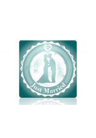 Табличка на свадьбу Молодожены бирюза