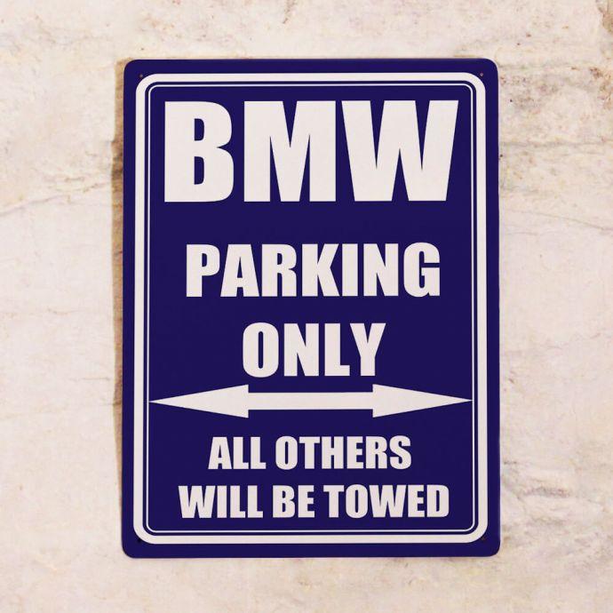 винтажная табличка bmw