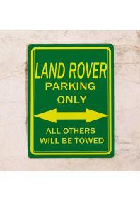 Парковочная табличка Land Rover